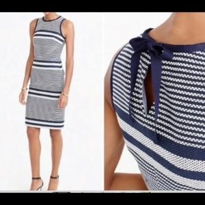 New. J Crew dress large  12/14 chest 38 navy/white